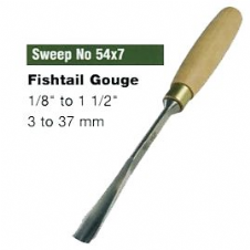 Fishtail Gouges (Sweep No.54x7)